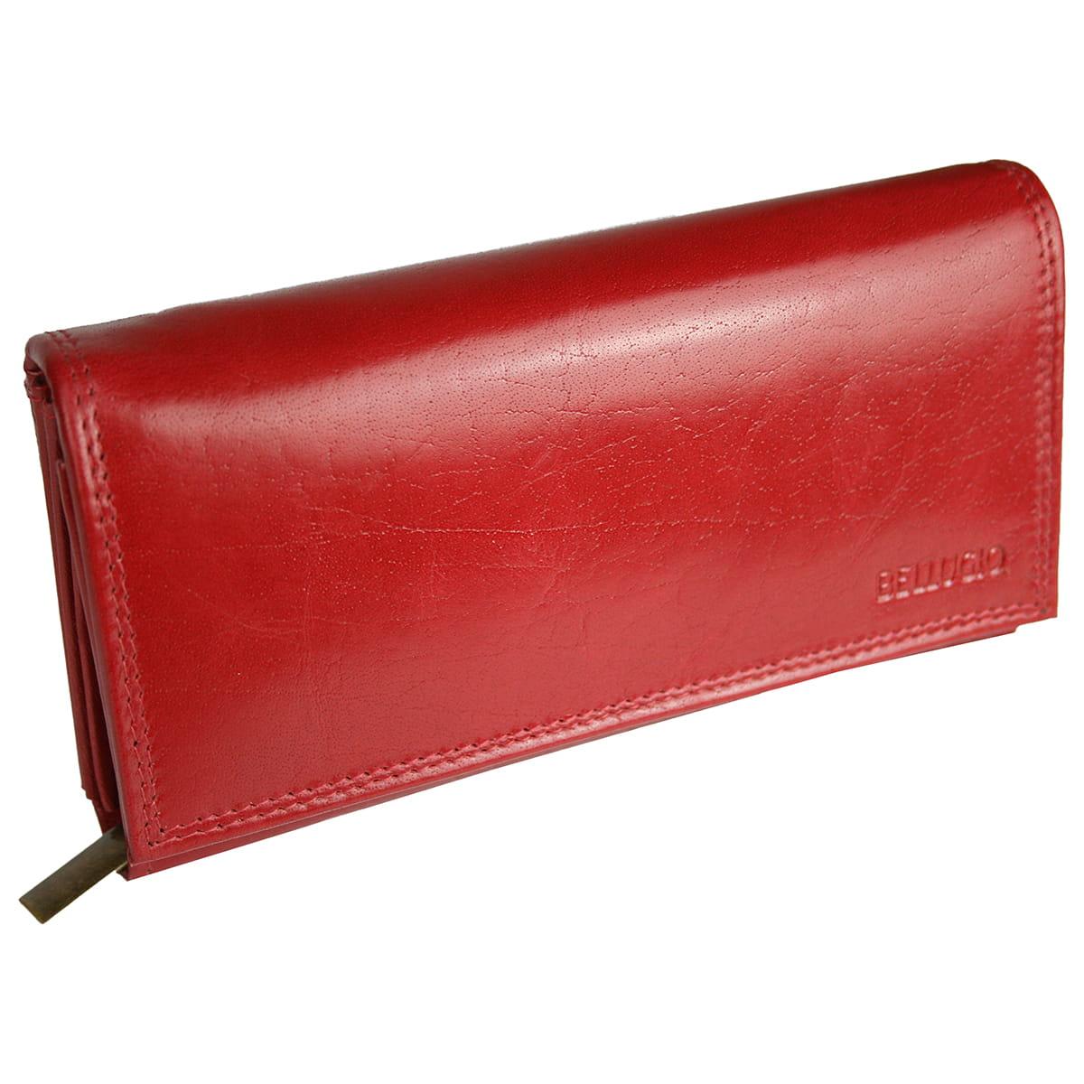 97ca91806125a Damski poziomy portfel ze skóry naturalnej marki Bellugio