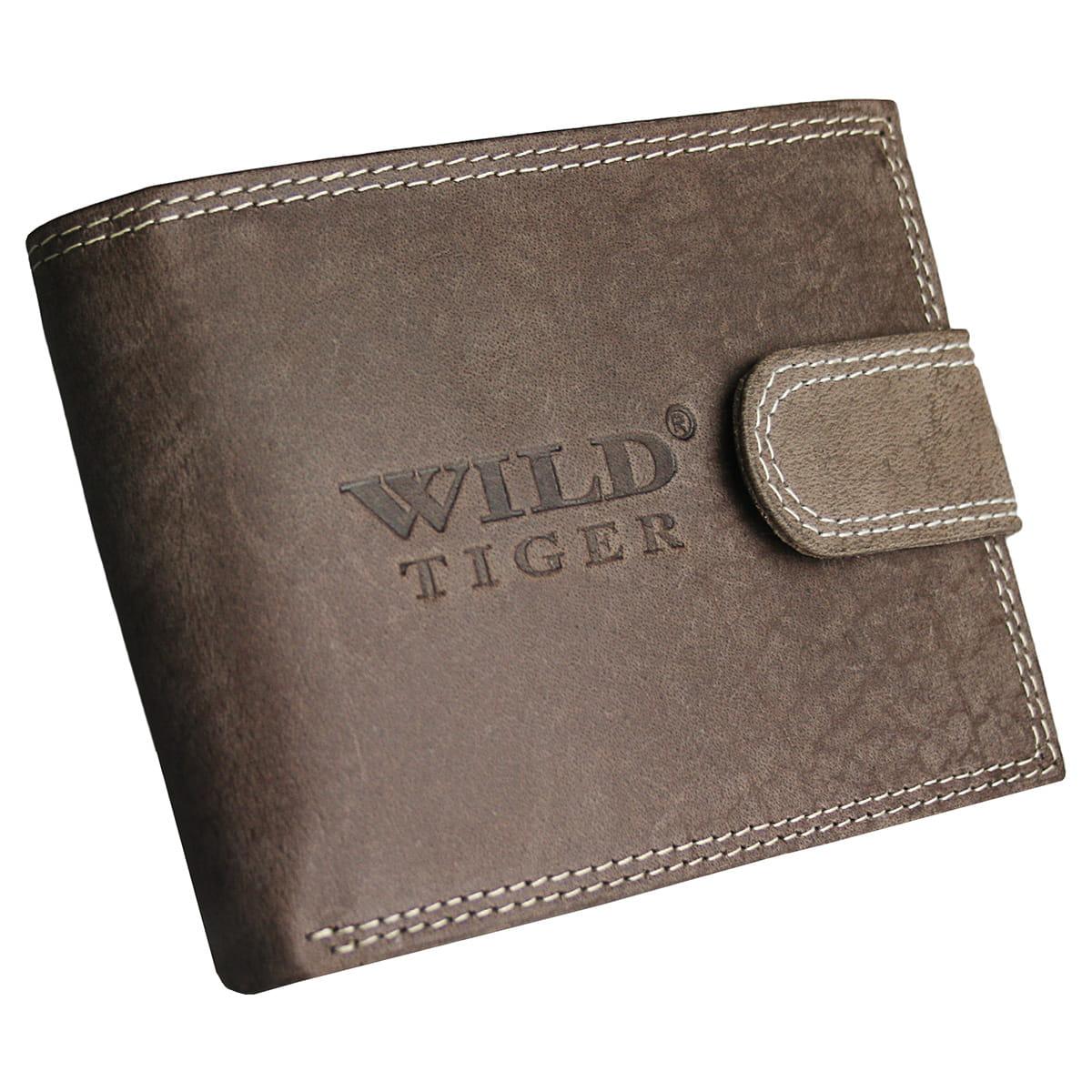1d9a712f46606 Portfel męski skóra nubuk nap Wild Tiger