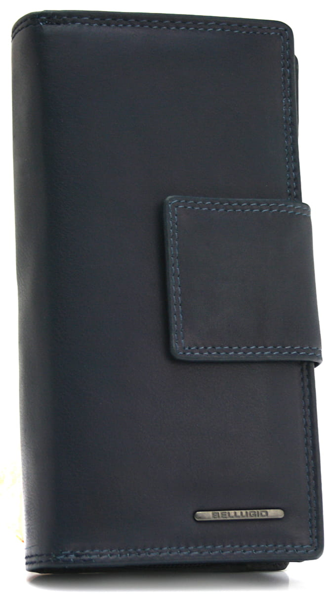 Duży skórzany portfel damski Bellugio
